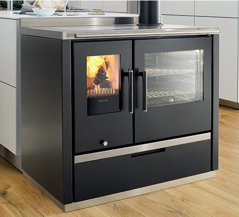 cuisini re bois eva 9 0kw eco 39 flamm. Black Bedroom Furniture Sets. Home Design Ideas