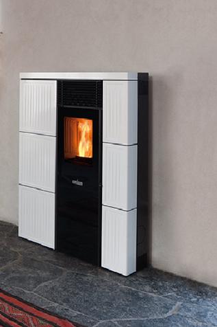 po le granul s olivia ceramique 8 0kw eco 39 flamm. Black Bedroom Furniture Sets. Home Design Ideas