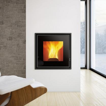 insert granul s pellet power 10 15kw eco 39 flamm. Black Bedroom Furniture Sets. Home Design Ideas